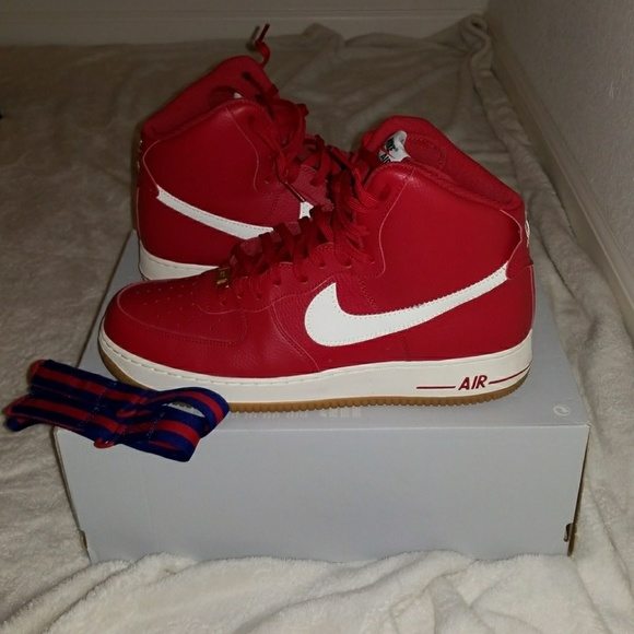 sports shoes 1596a 29583 NIKE Air Force 1 AF1 High  07 Gym Red Blue Gum Men.  M 5a8f920846aa7ccc36b4368c